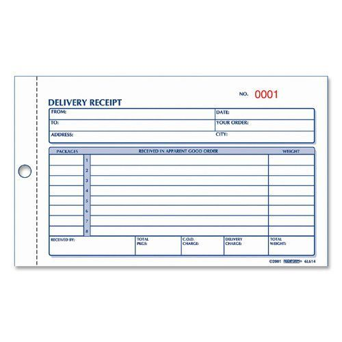 Rediform Office Products Delivery Receipt Book 3 Part 4 1 4 X6 3 8 50 Pk Manila Delivery Good Essay Cover Letter Sample