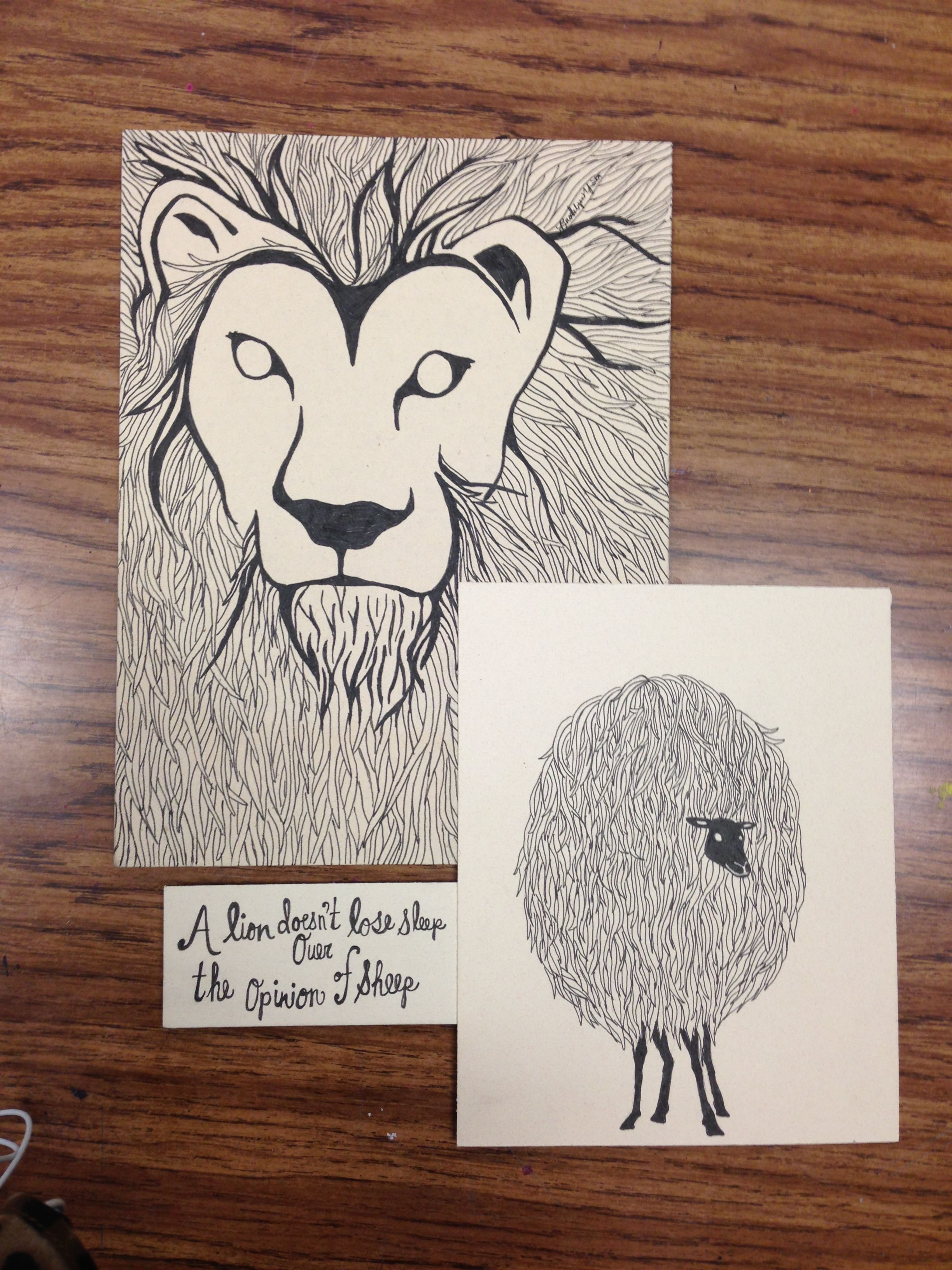 A Lion Doesn T Lose Sleep Over The Opinion Of Sheep Art Project