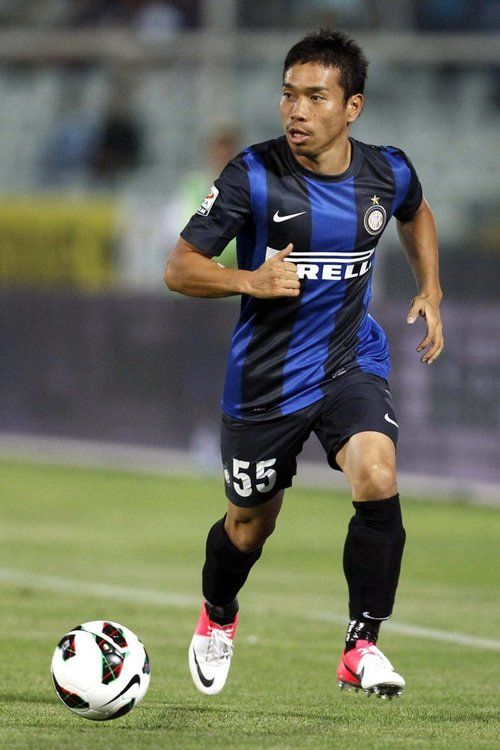 Inter Milan S Yuto Nagatomo Controls The Ball Inter Milan Soccer Match Yuto Nagatomo