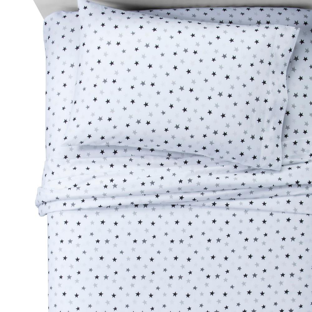Stars Gray Marble 100 Cotton Sheet Set Queen Pillowfort