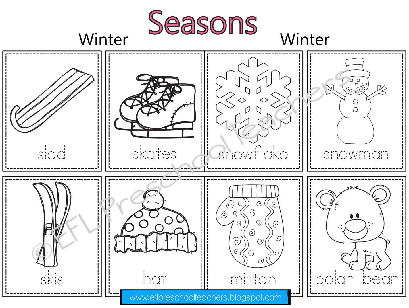 Esl Seasons Worksheets Then I Made Two Worksheets For
