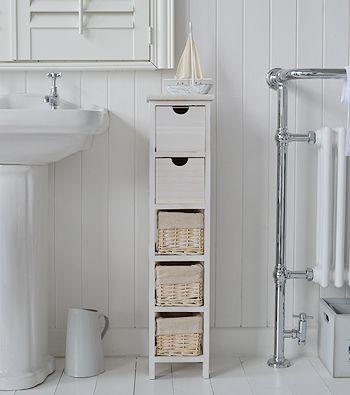 Tall Slim Narrow 20cm Bathroom Storage Slim Bathroom Storage