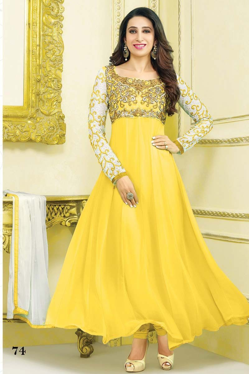 Indian dress in yellow.