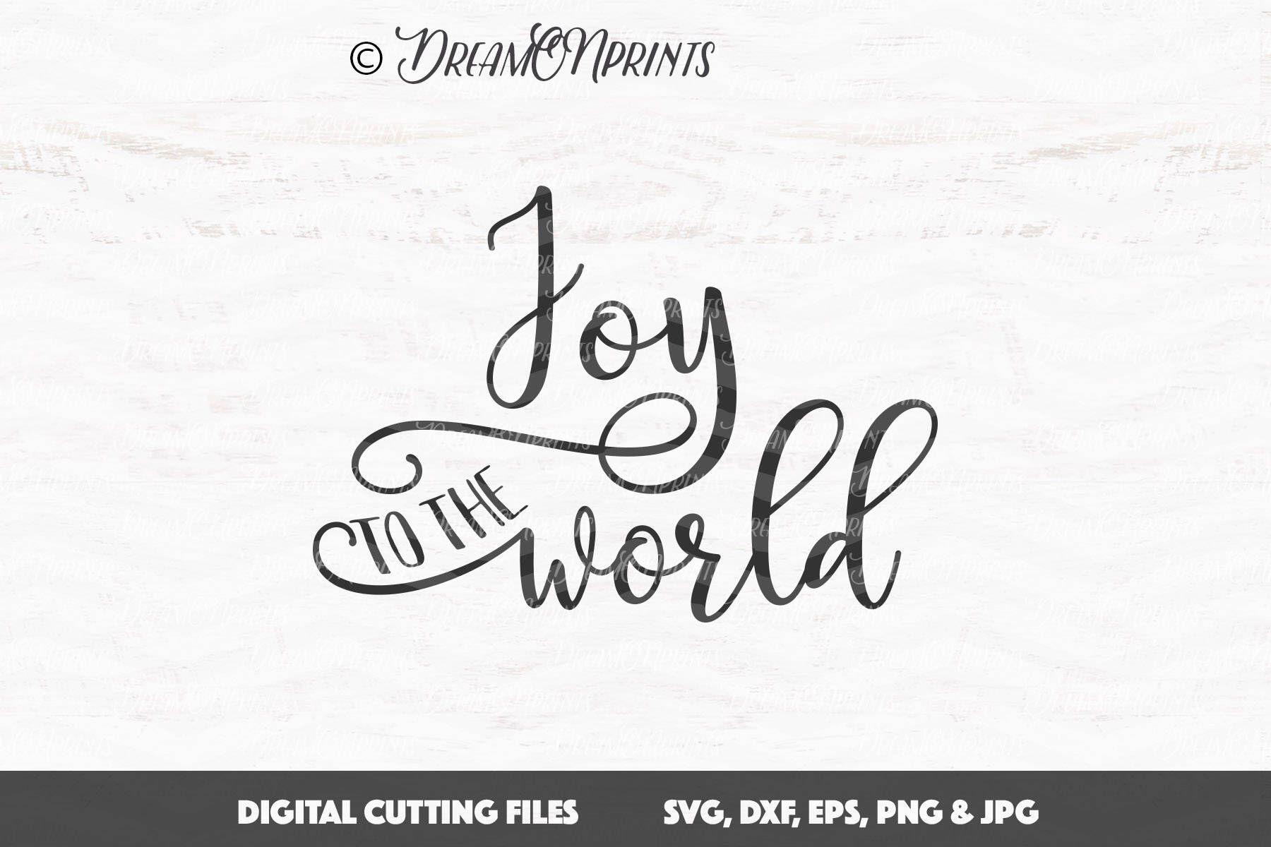 Joy to the World SVg Christmas SVG Files for Cricut