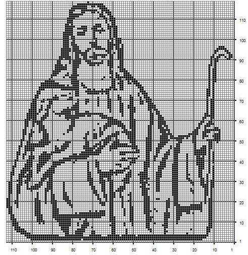 buen pastor | crochet | Pinterest | Pastor, Religiosas y Punto de cruz