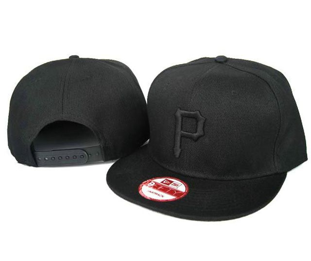 New Era MLB Pittsburgh Pirates All Black Snapback Hats Caps 3870! Only   8.90USD fbcf22d99e3