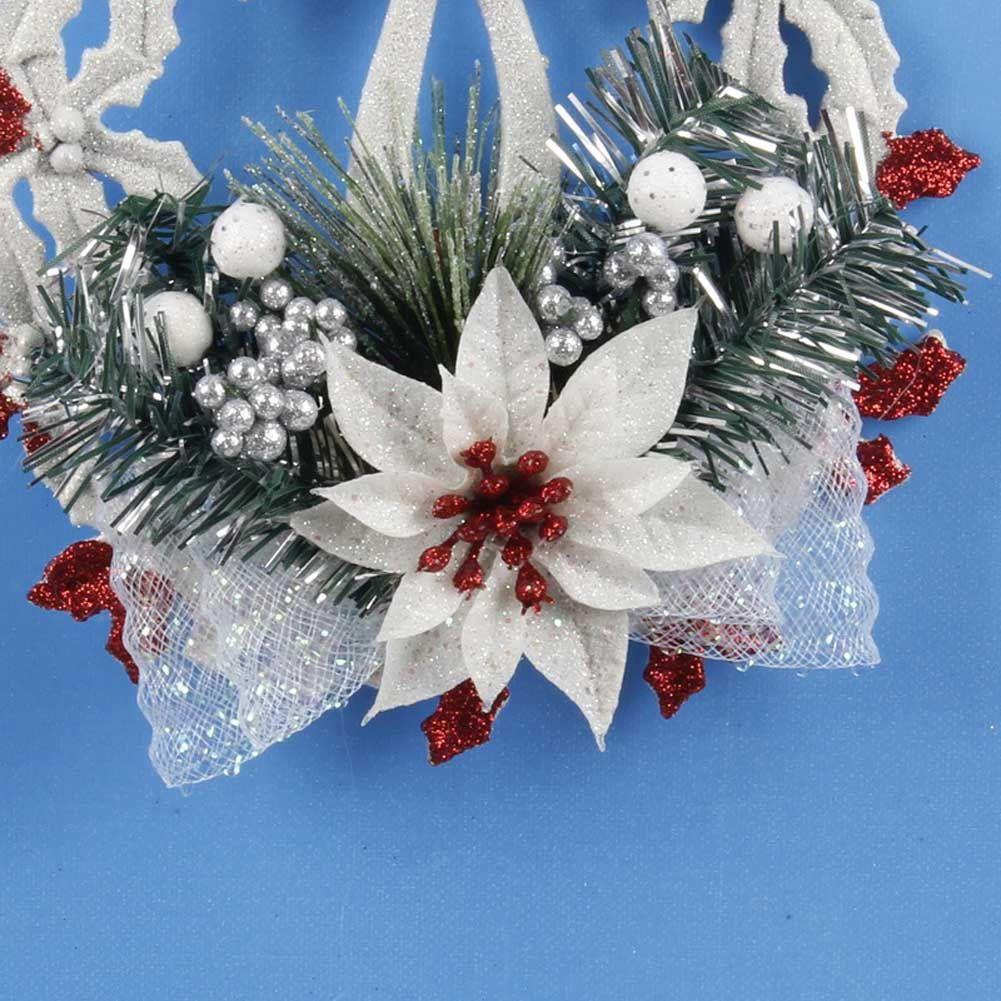 Christmas Wreath Garland Hanging Pendant Decor Wall Decorations Christmas Ornament Flower Christmas Decorations Xmas Trees Christmas Wreaths Christmas Pendant