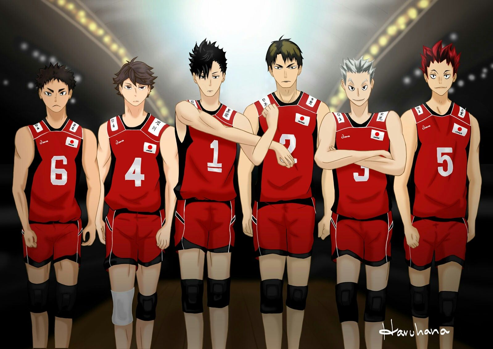 Japan Team Of 3rd Years Haikyuu Karasuno Haikyuu Haikyuu Anime