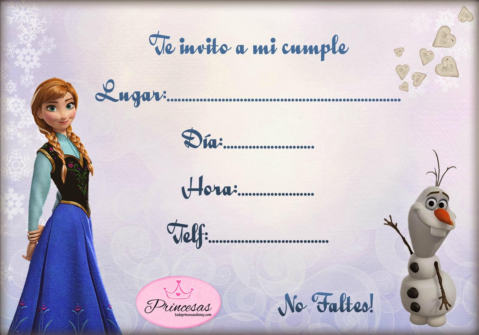 Invitaciones De Cumpleaños Con Foto Para Imprimir 11 en HD Gratis ...