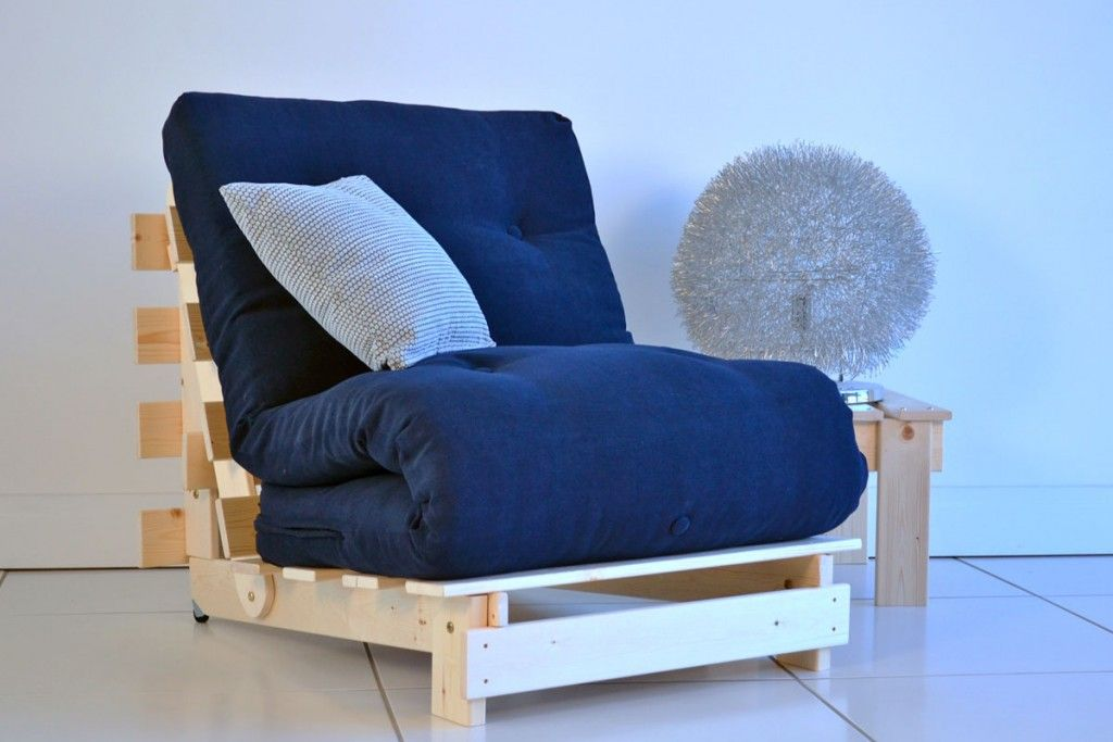 Charmant Navy Blue Futon Cover