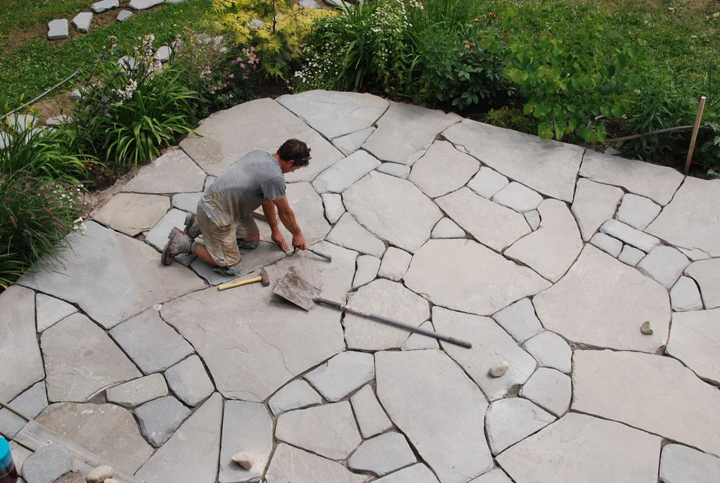 mosaic bluestone patio backyard pinterest bluestone patio