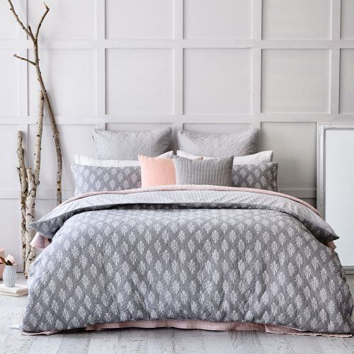 A quilted design, the Tegan quilt cover from Mercer + Reid offers textured style in a soft, neutral colour palette.