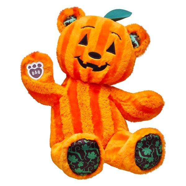 Build-A-Bear BEAR O LANTERN HALLOWEEN Pumpkin Plush Jack-o-lantern 2016 edition