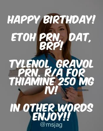 Share This Birthday Wish With All Your Nursing Friends Funny