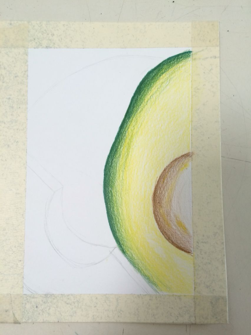 Avacado drawing with cp 5/9
