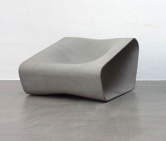 Concrete chair   Le Manoosh Ideias para o jardim Pinterest