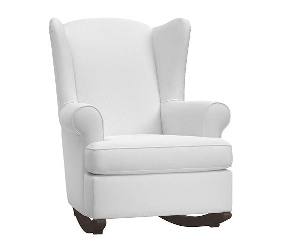 Wingback Convertible Rocking Chair Amp Ottoman With Images