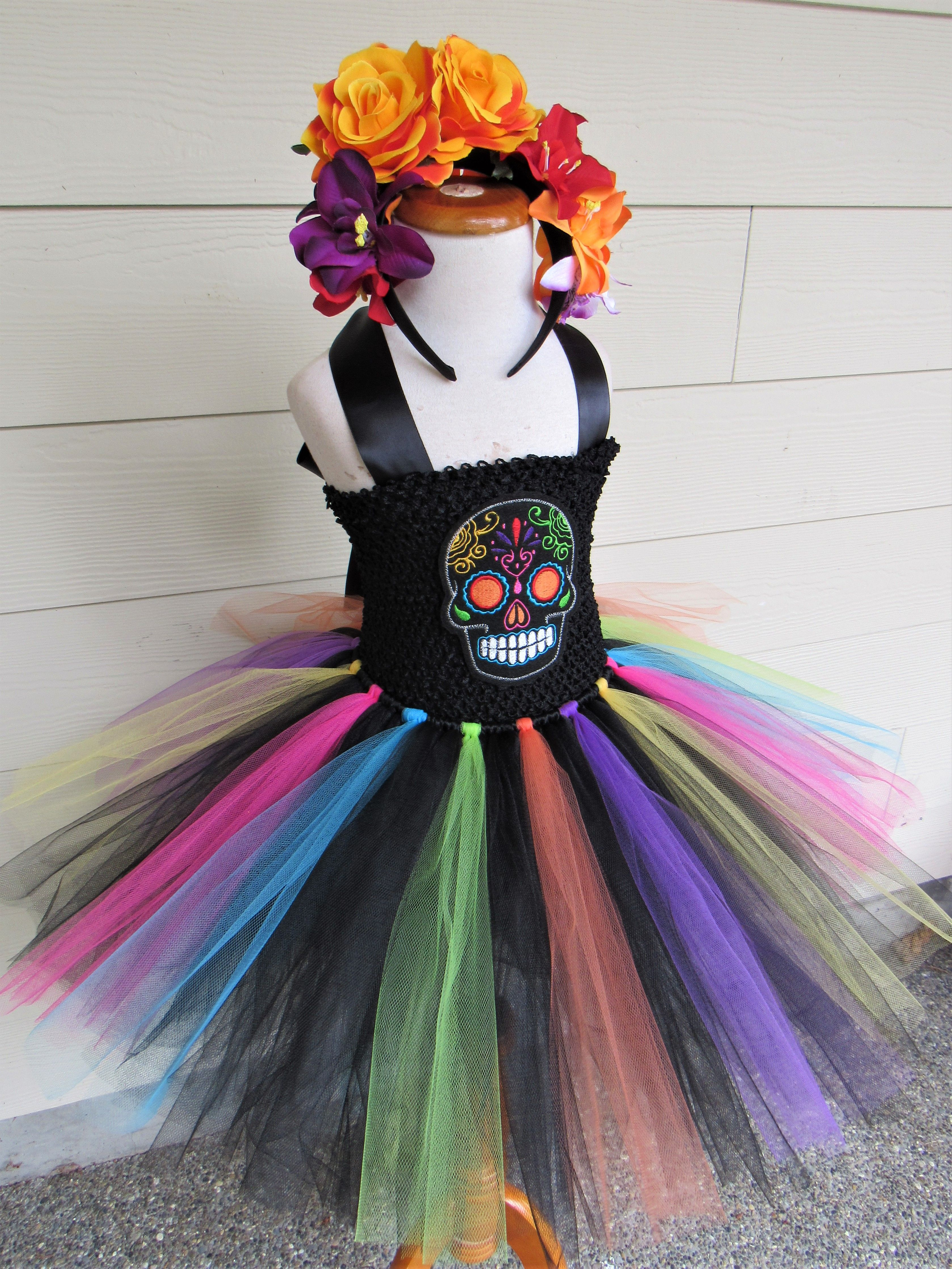 0cdf90d098 Dia De Los Muertos/Day of the Dead Halloween Tutu Costume found at my Etsy  shop, Tutu Territory!