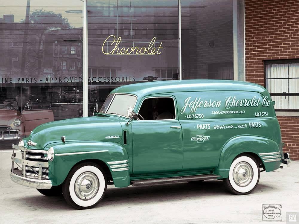 Late 1940s, Jefferson Chevrolet in Detroit. #chevroletvintagecars ...