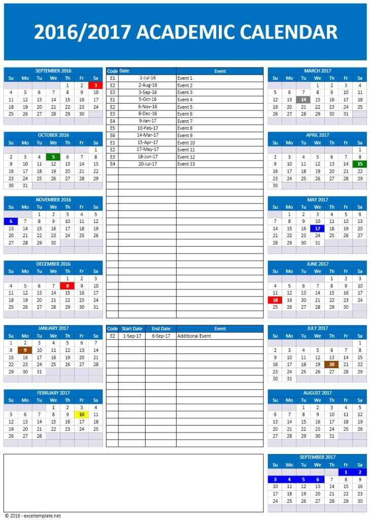 2016 2017 school calendars excel calendars News to Go Pinterest - copy free resume templates for libreoffice