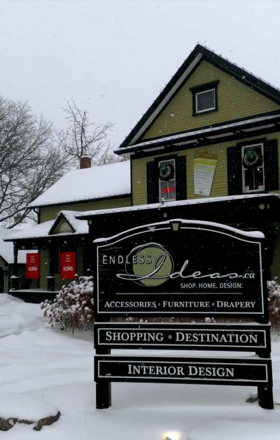 The Endless Ideas Showroom located in Brooklin, ON, Canada #endlessideas #winterwonderland