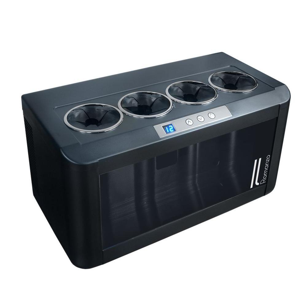 Vinotemp 4 Bottle Open Wine Cooler Black Wine Refrigerator