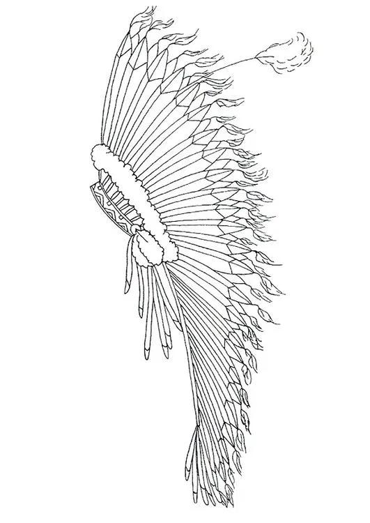 12 Desenhos De Cocar Indigena Para Colorir E Imprimir Paginas