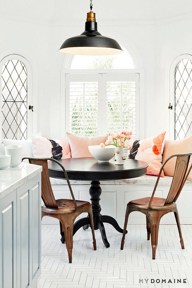 20 Stylish Rooms That Prove Blush Is The New Black Dining Room Small Dining Room Decor Home