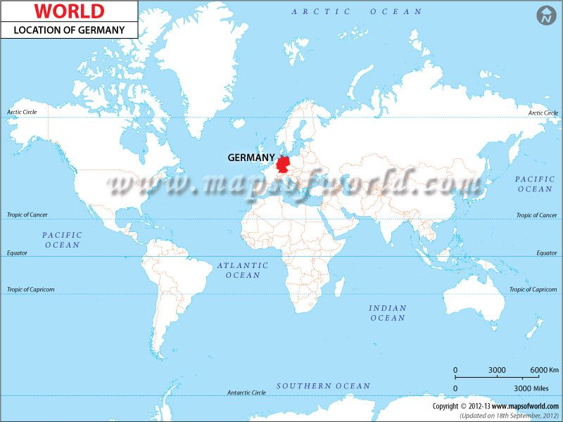 Show Map Of Germany.Location Map Of Germany Shows Where Is Present In The Worldmap