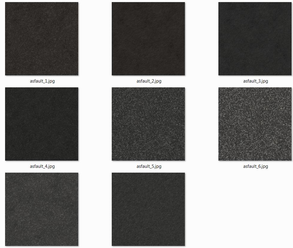 Gamedev - 8 Asphalt textures  - CC0 License #GAMEDEV #INDIEDEV #GAMEASSETS #TEXTURES #CG #cgtextures