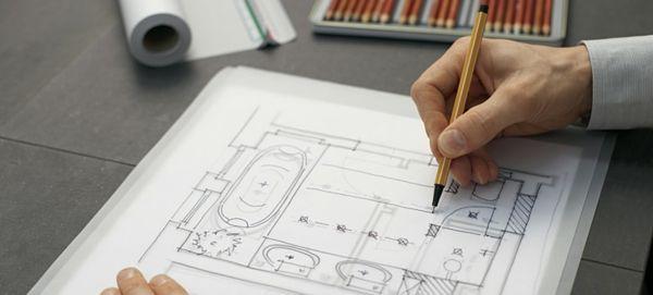 badezimmerplaner online zeichnung per hand badgestaltung ...