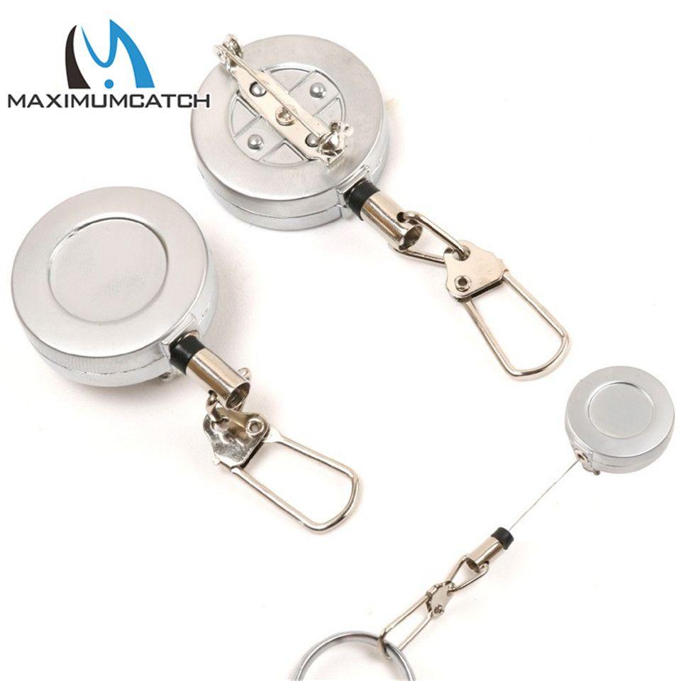 Maximumcatch 2 Pieces Fly Fishing Tool Steel Wire Zinger Retractor ...