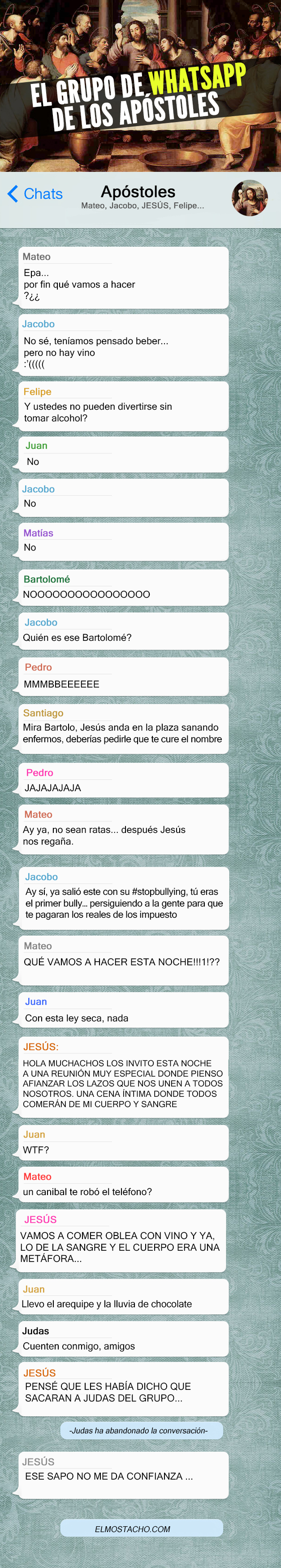 El Grupo De Whatsapp De Los Apostoles El Mostacho Funny Phrases Jokes Quotes Very Funny Quotes