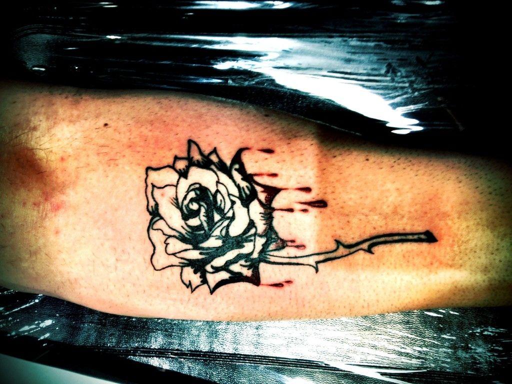 bleeding rose... awesome ink!!! Tattoos, Bleeding rose