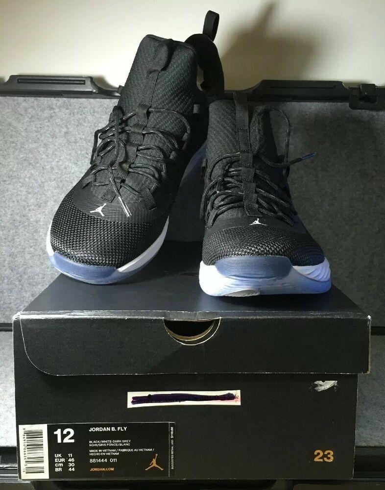9e4faf3cc2b0 Nike JORDAN B. FLY (881444-011) Size 12 Black White Dark Grey  fashion   clothing  shoes  accessories  mensshoes  athleticshoes (ebay link)