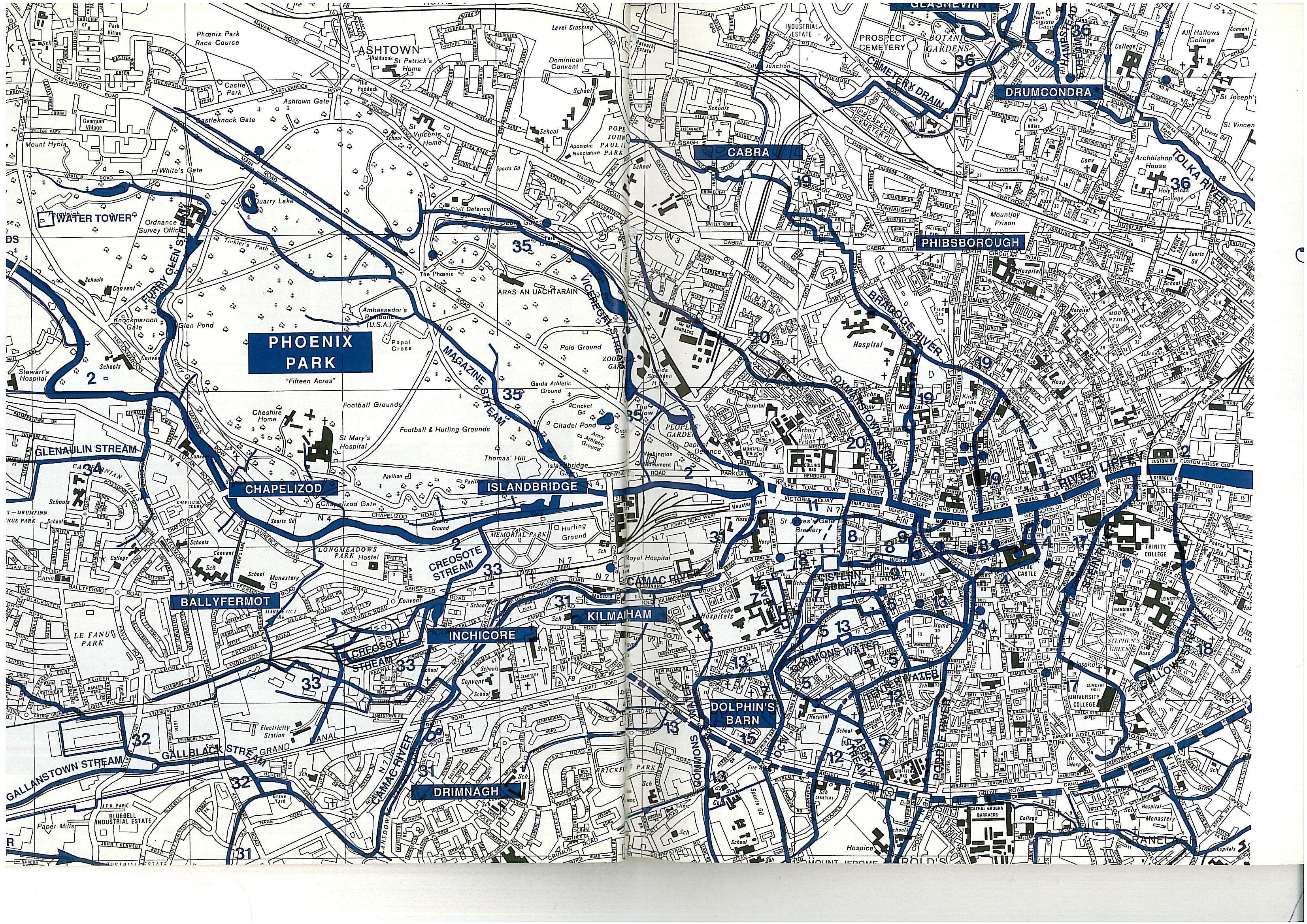 The Largely Underground Rivers Of Dublin Ireland