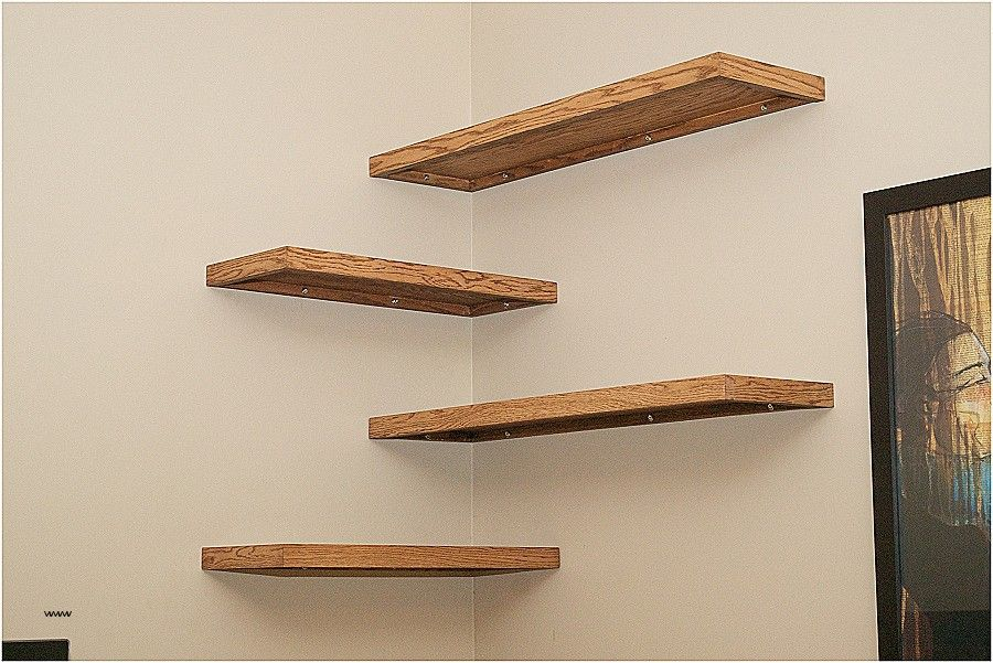 Diy Corner Shelf From Cardboard Diy Floating Shelves Through