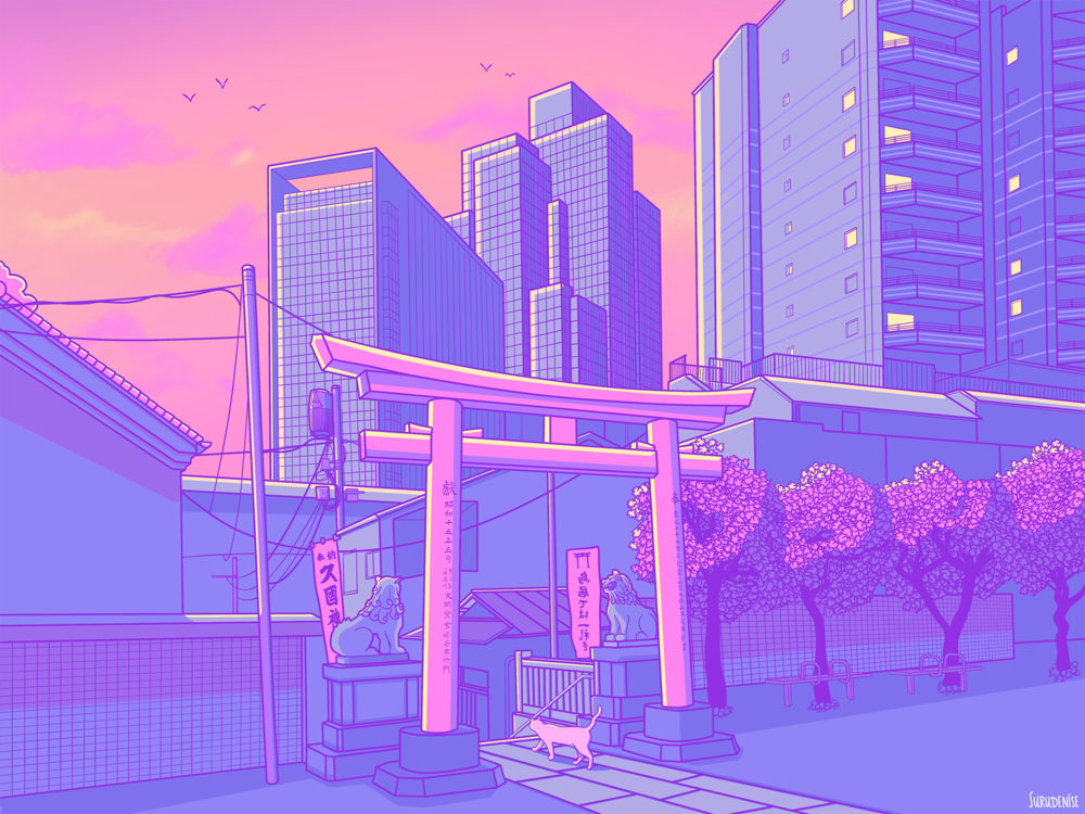 Roppongi Day Pastel Japan By Surudenise In 2020 Aesthetic Pastel Wallpaper Aesthetic Japan Aesthetic Desktop Wallpaper