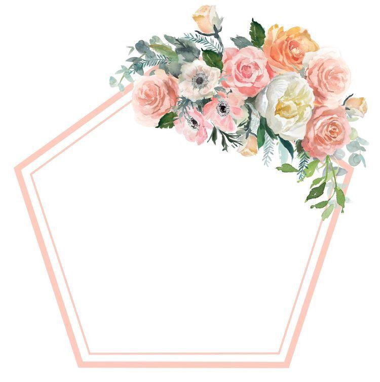 Pin By Dri Gibelini On Diversos Artes E Molduras Flower Frame Floral Border Flower Printable