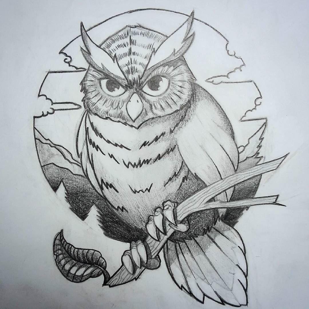 Owl Tattoodesign I Made For A Contest Art