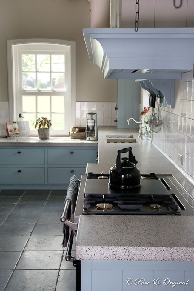 Keuken essenhoeve kleur muur canvas van pure original kleur keuken eucalyptus van painting - Keuken kleur idee ...