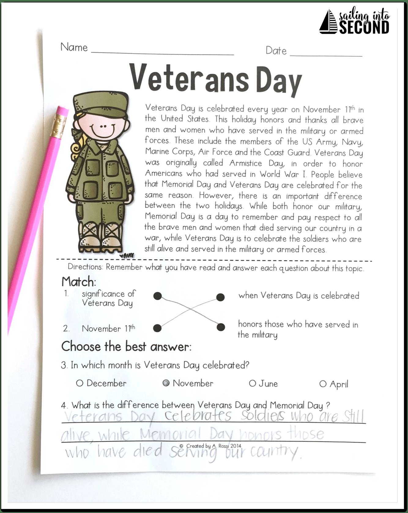 Memorial Day Veterans Day Unit