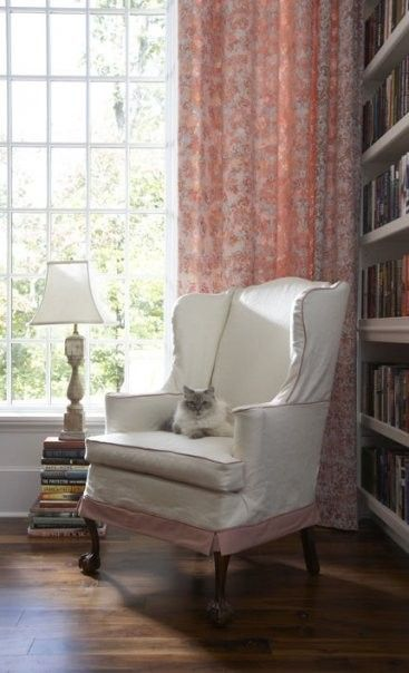 Slip Cover For Wing Chair--straight Skirt--no Ruffle
