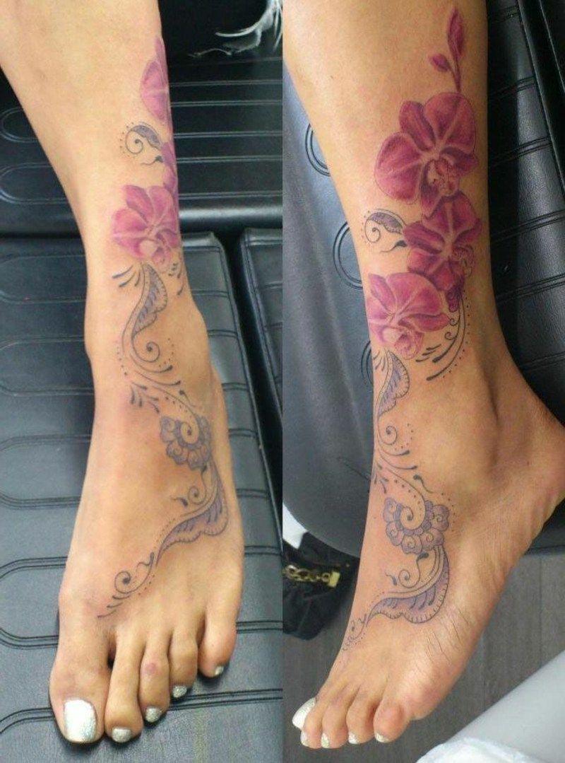 Orchideen Tattoo Ideen Entwurfe Und Bedeutungen Tattoo Tattoo