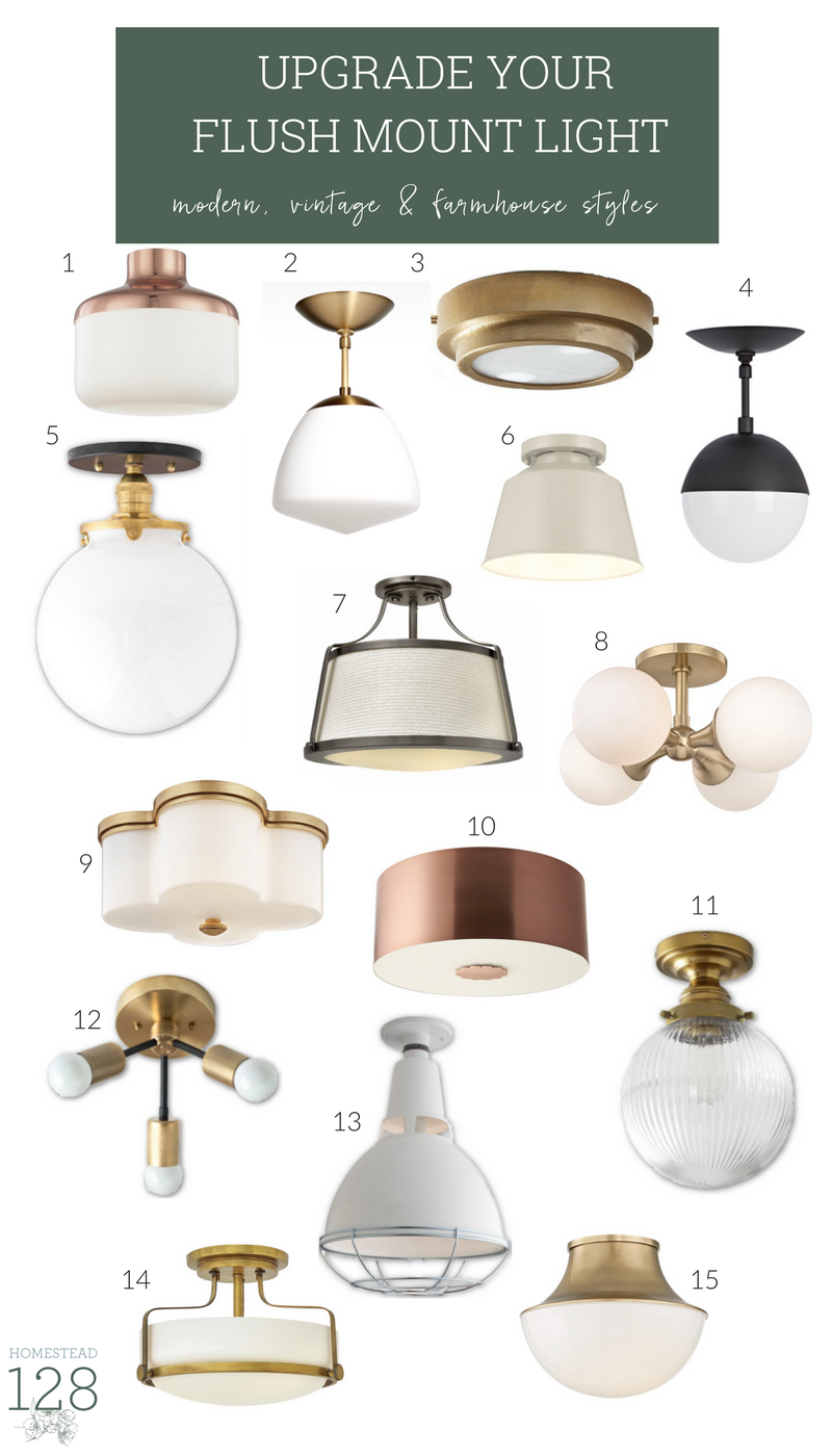 15 Trendy Flushmount Lights For A Modern Farmhouse Homestead 128