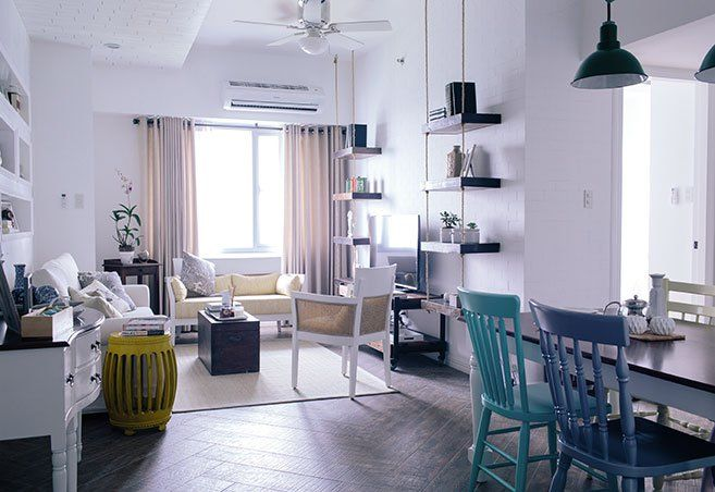 country style for an 86sqm condo in taguig dream home rh pinterest com