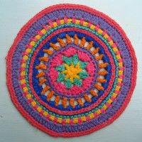Crochet Mandala Wheel made by Jess, Oxfordshire, UK, for yarndale.co.uk