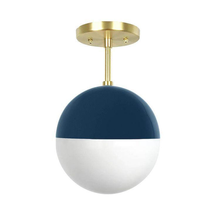 Slate Blue Color Lure Globe Flush Mount 8