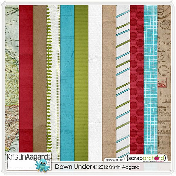 Digital Scrapbook Kit - Down Under | Kristin Aagard
