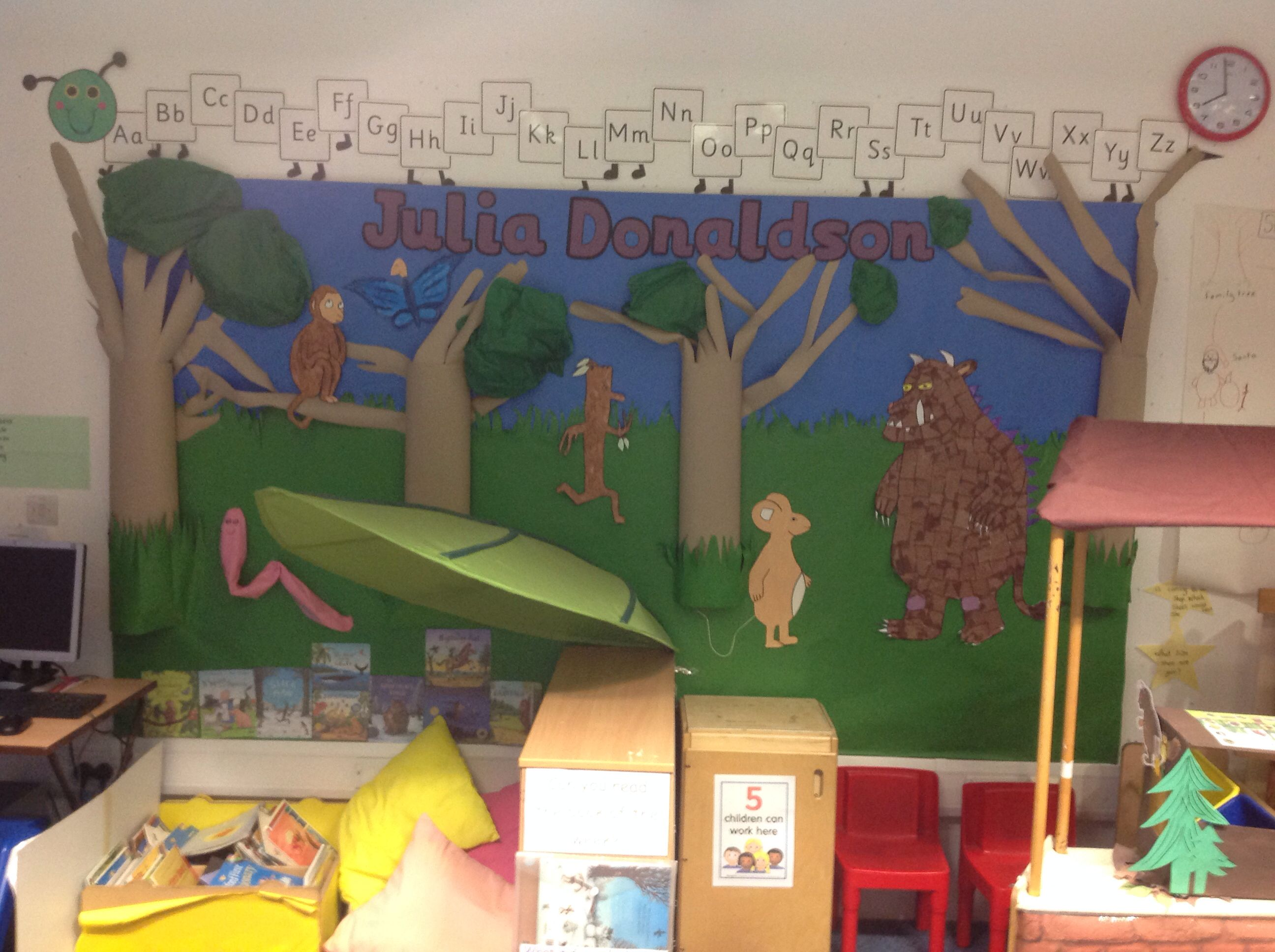 Classroom Decorations Uk : Our julia donaldson classroom display school j